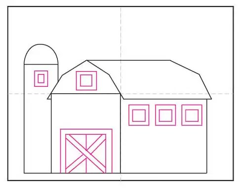 How To Draw A Barn Art Projects For Kids