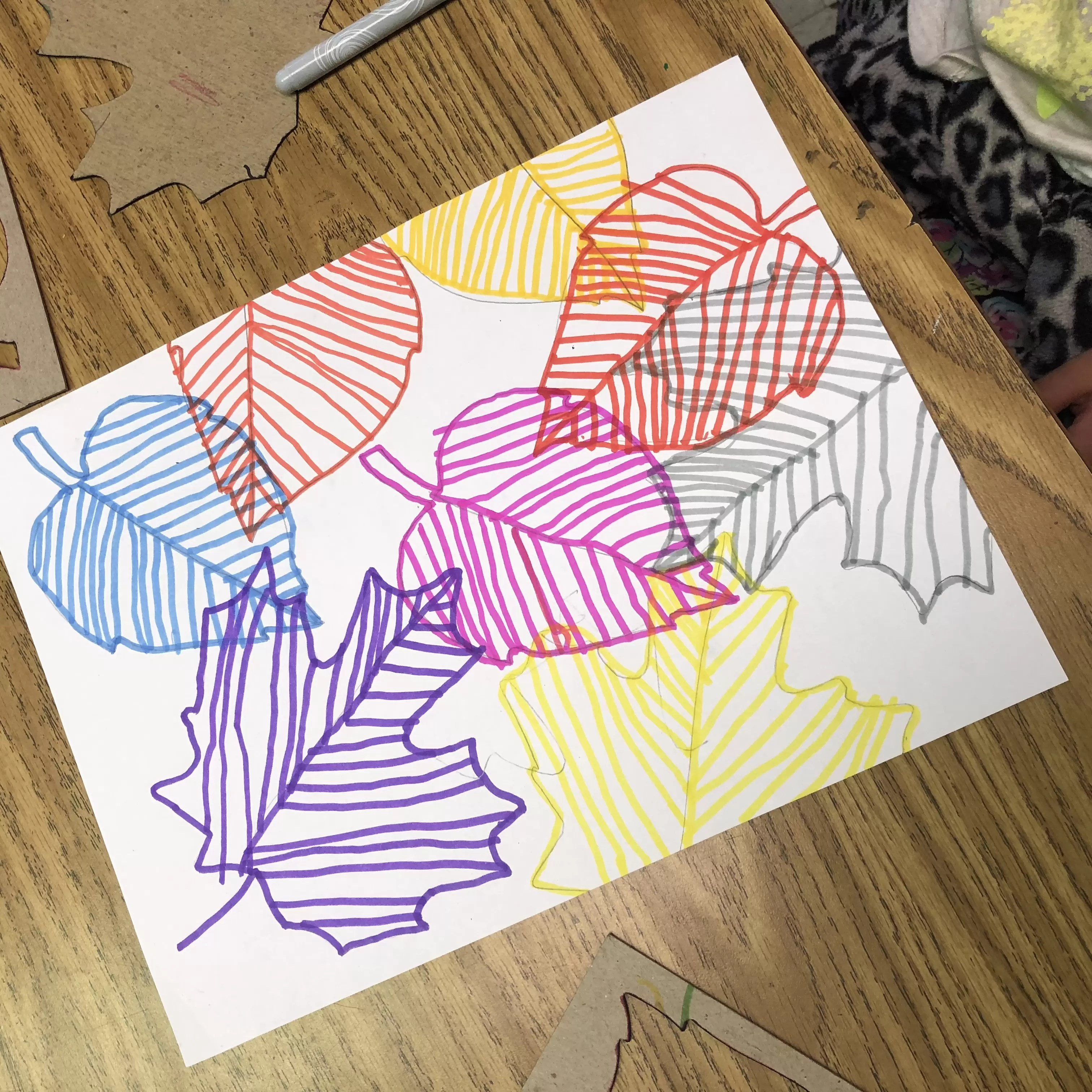 Line Art Project Leaves Art Projects For Kids