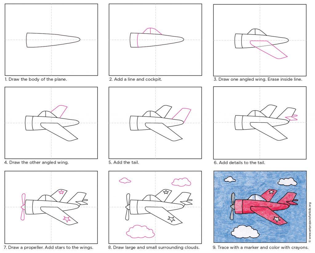 Draw A Ww2 Plane Art Projects For Kids