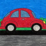 How To Draw An Easy Car Art Projects For Kids