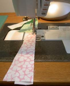 Sewing Wedges to Sashing