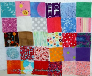 Fabric of the Year Squares (March)