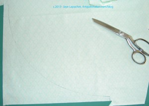 Outer Edge Patch half cut out