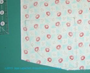 Line drawn on fabric