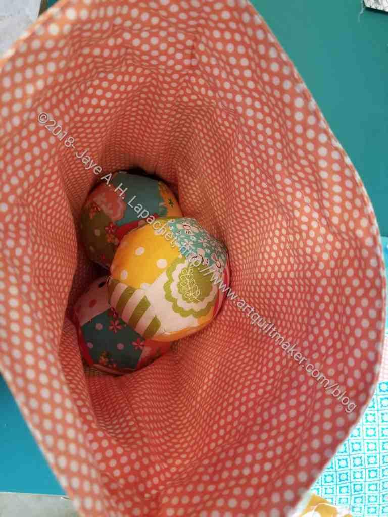 Juggling Balls in the drawstring bag