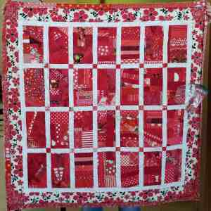 Red Strip (Chunk) Donation Quilt