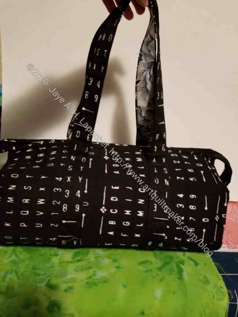 All Rolled Up tote with handles
