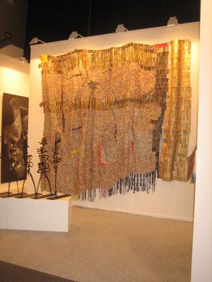 El Anatsui at October Gallery