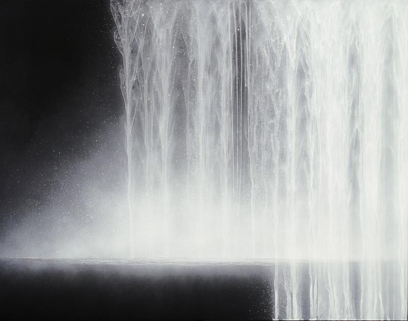 Hiroshi Senju, Waterfall, 2009, Natural pigments on Japanese mulberry paper, 90.9 x 116.7 cm