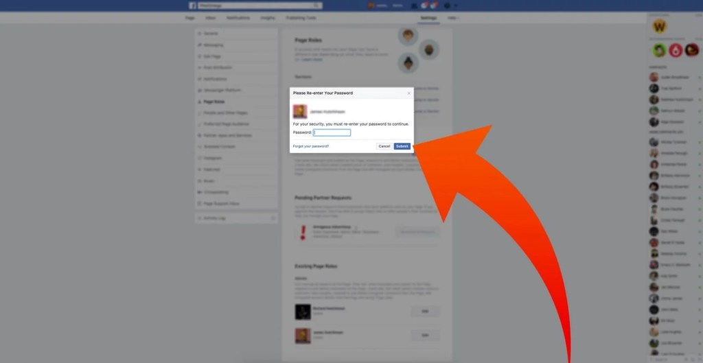 step five of accepting a request to access your page on facebook