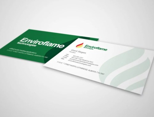 Enviroflame Technologies - Business Card Design - Lethbridge, AB