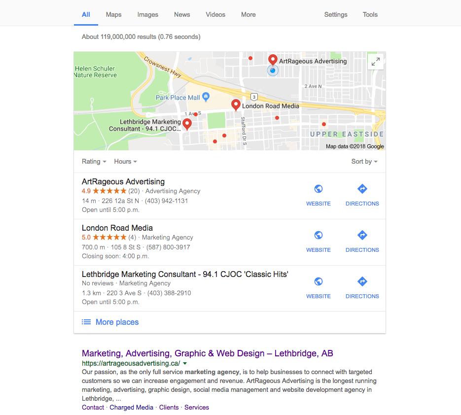 Google Review - SEO - Screenshot