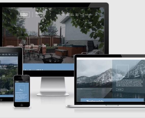 Web Design Markup for Andrea Elder Realtor by Artrageous Advertising