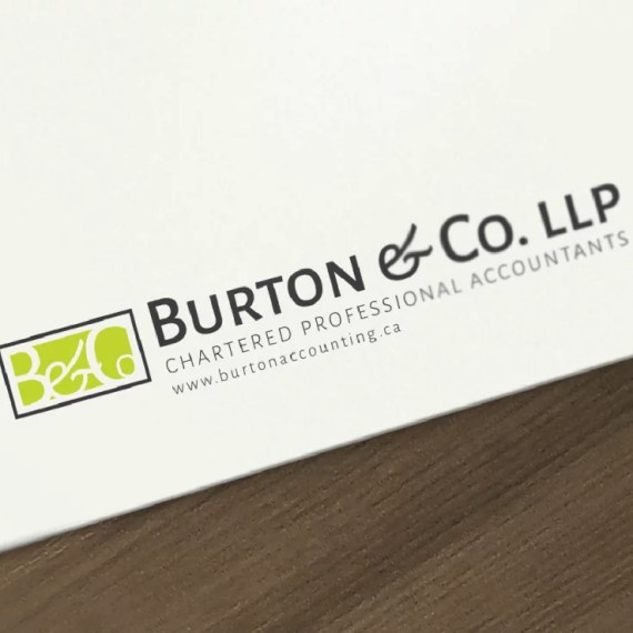 Logo Design Mockup for Burton & Co. LLP