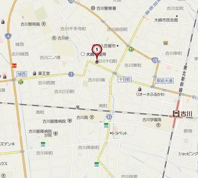 富士屋古川本店の地図