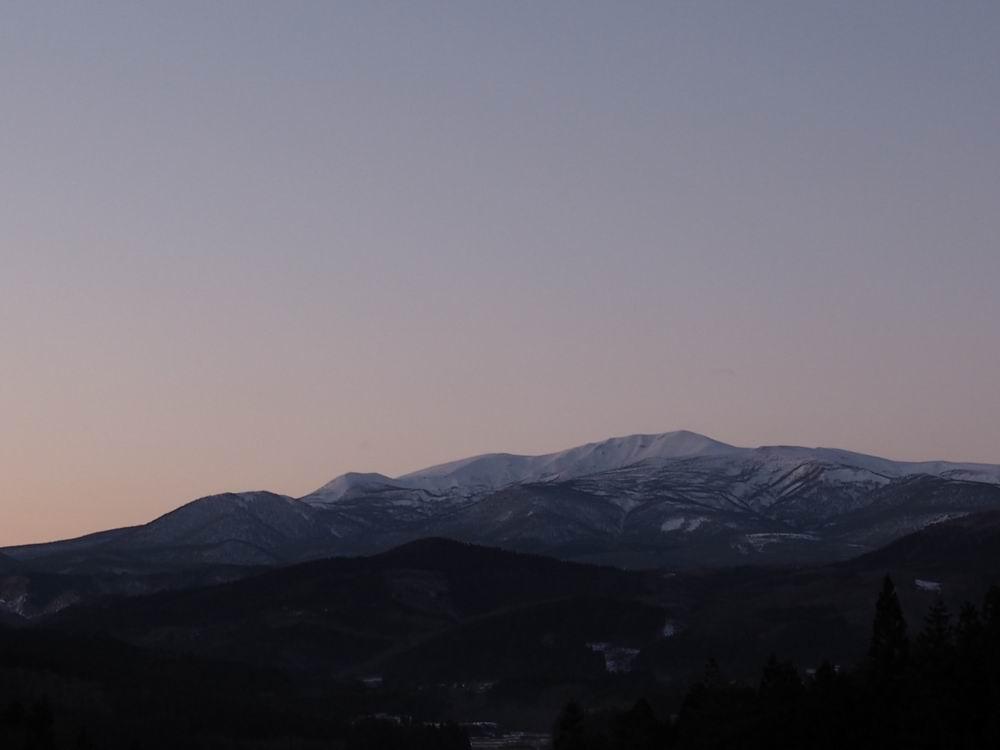栗駒山2017年末の風景