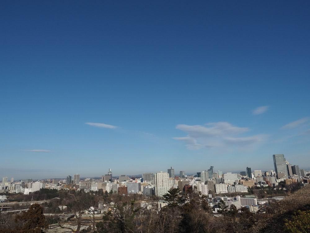 青葉城址公園の仙台の風景