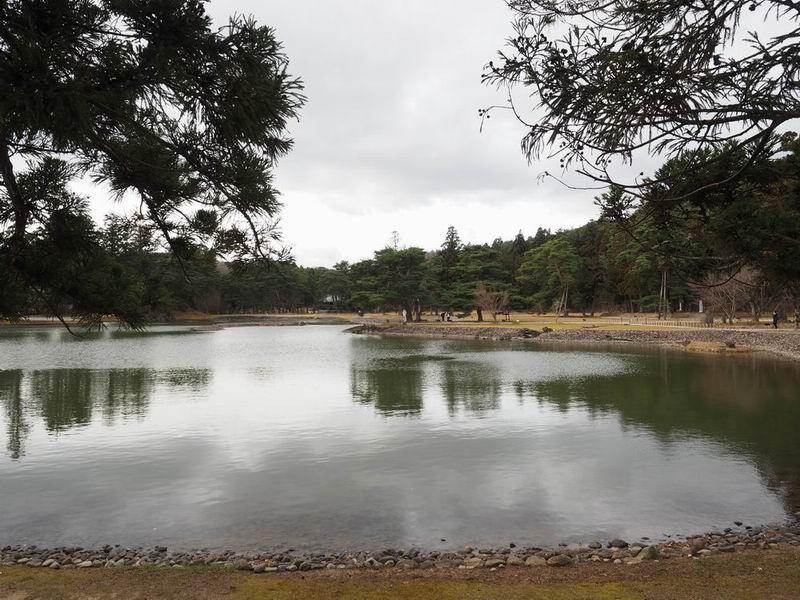 毛越寺大泉が池の庭園