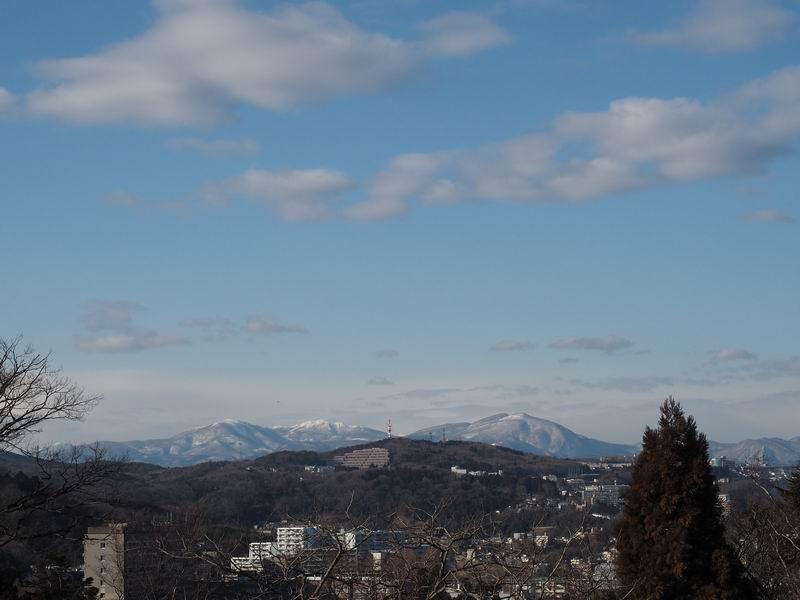 仙台青葉城から見た市街地の風景写真