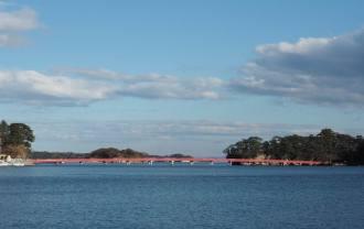 松島福浦橋の風景写真