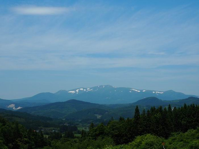 栗駒山の夏の風景写真
