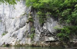 猊鼻渓の風景写真