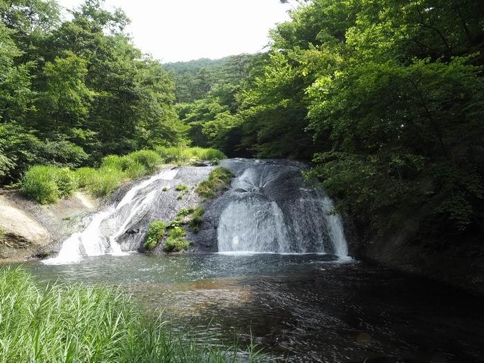 花巻温泉の滝の風景写真