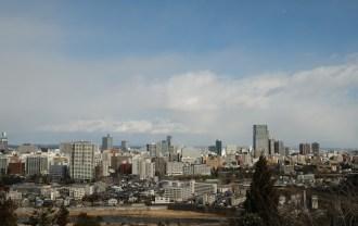 仙台城跡公園(青葉城址公園)の仙台市内一望写真1
