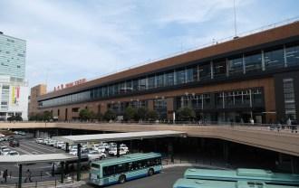 x-t3で撮影する画質のレビュー 仙台駅の風景写真