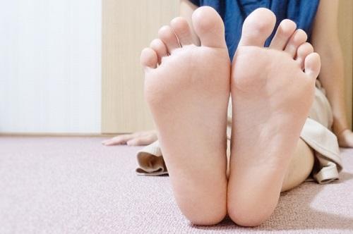 足のサイズの写真