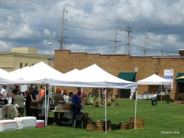 The waterfront market encouraging local food and crafts vendors