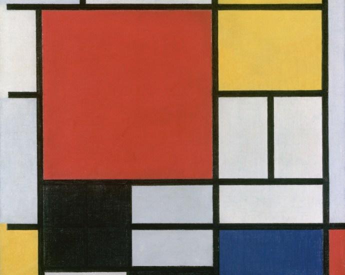 Piet_Mondriaan,1921 Composition en rouge, jaune, bleu et noir structured data