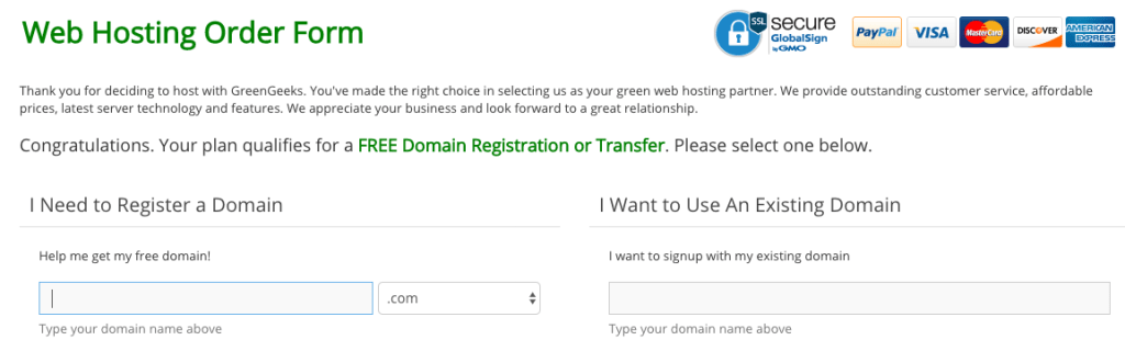 how to buy hosting from Green Geeks or How To Transfer Websites to One Hosting Plan