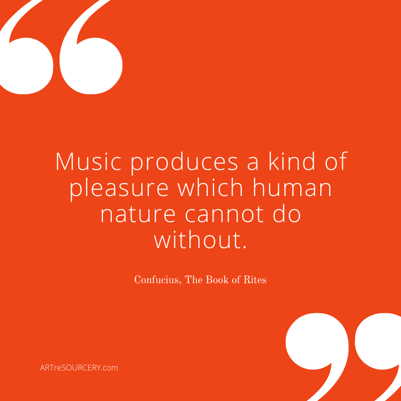 Confucius on music and pleasure: aesthetic experience quotes