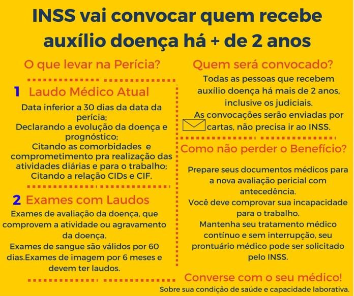 INSS vai convocar quem recebe auxílio doença há + de 2 anos (1)