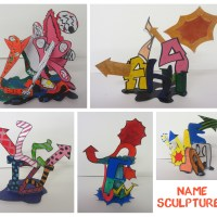 Year 9 - Name Sculptures