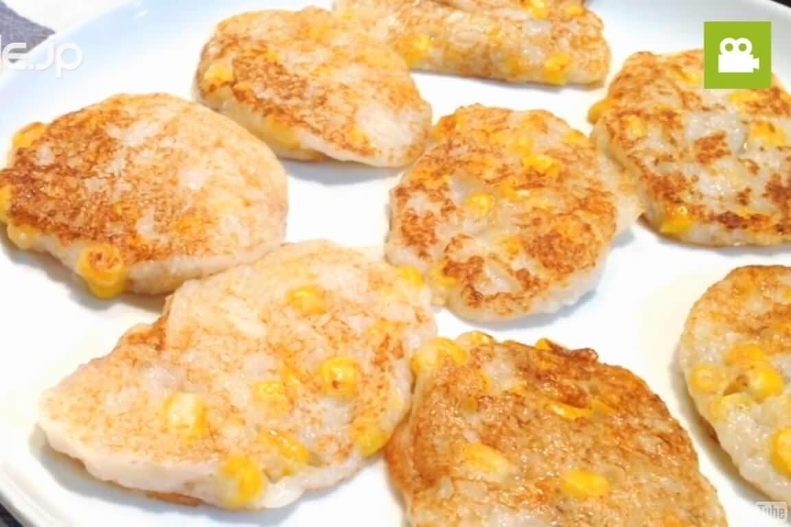 お酒のおつまみにぴったり!とろふわ長芋コーン焼きの作り方・レシピ