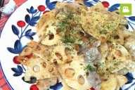 食感が最高!レンコンと豚肉のオイマヨ和えの作り方・レシピ