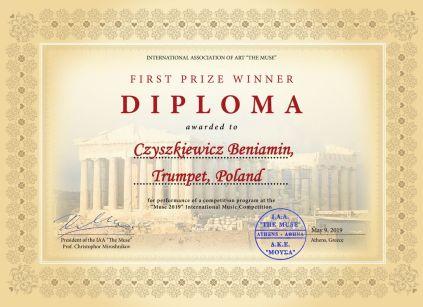 1st Prize Diploma