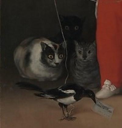 Гойя кошки на картине