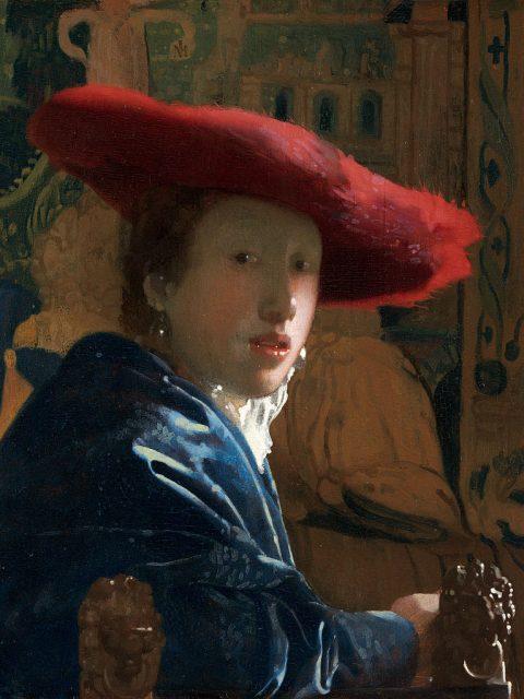 Вермеер девушка в красной шляпе