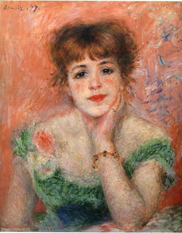 Ренуар портрет Жанны Самари