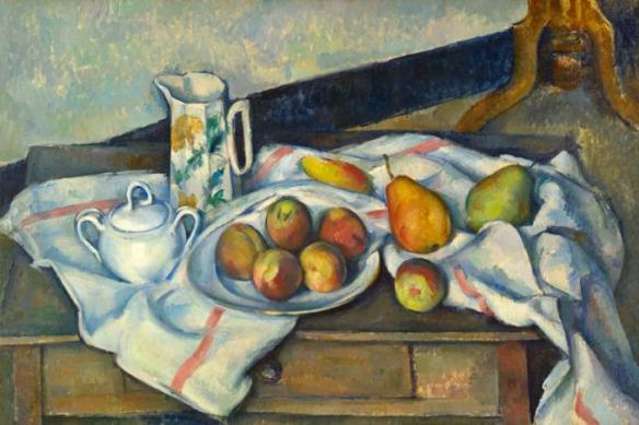 Сезанн персики и груши