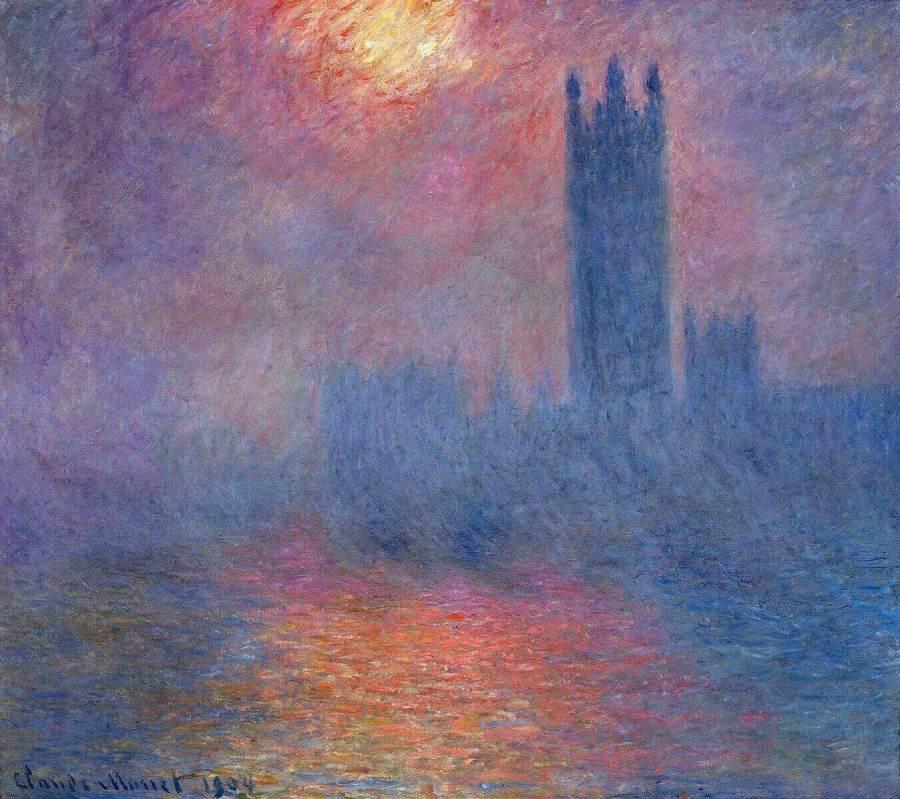 Клод Моне парламент в тумане