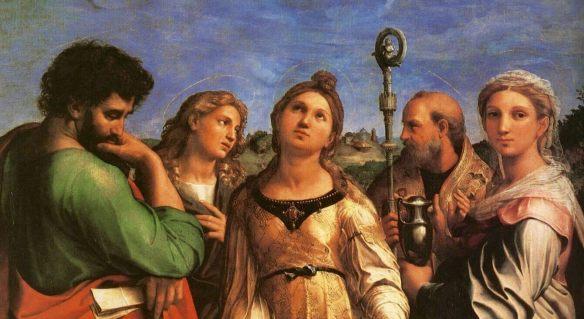 Рафаэль композиция святой Цецилии