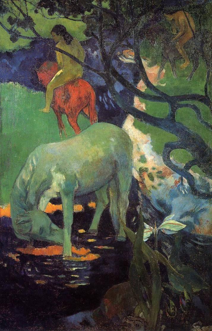 Поль Гоген белая лошадь