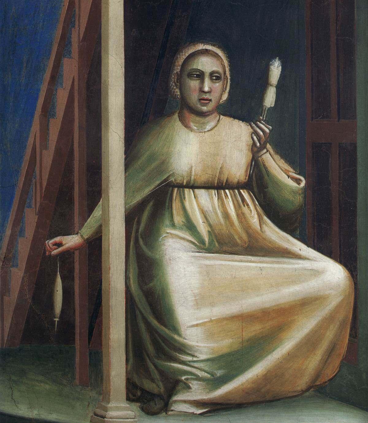 Джотто Благовещение святой Анне фрагмент