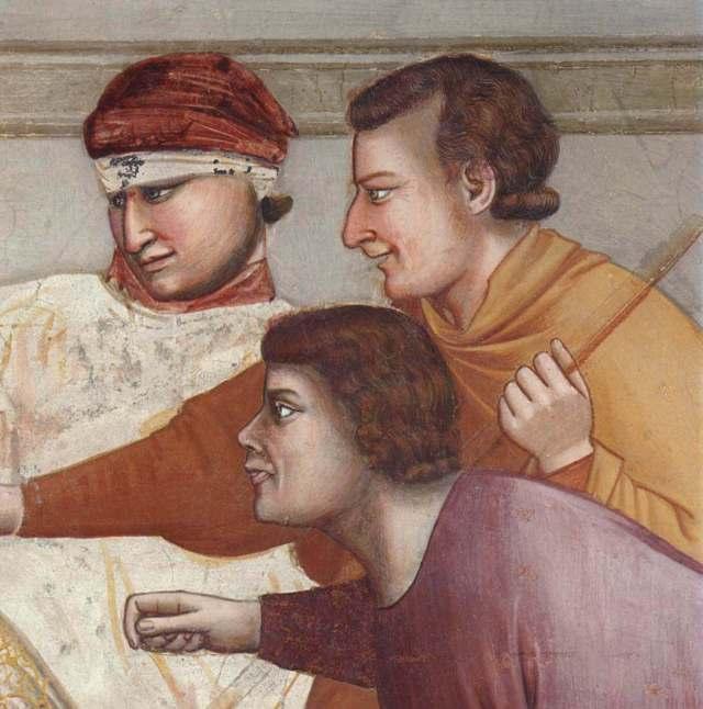 Джотто бичевание Христа фрагмент