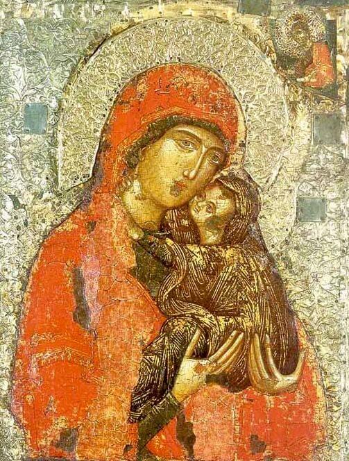 Святая Анна с младенцем Марией