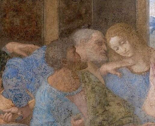 Леонардо да Винчи Иуда тайная вечеря